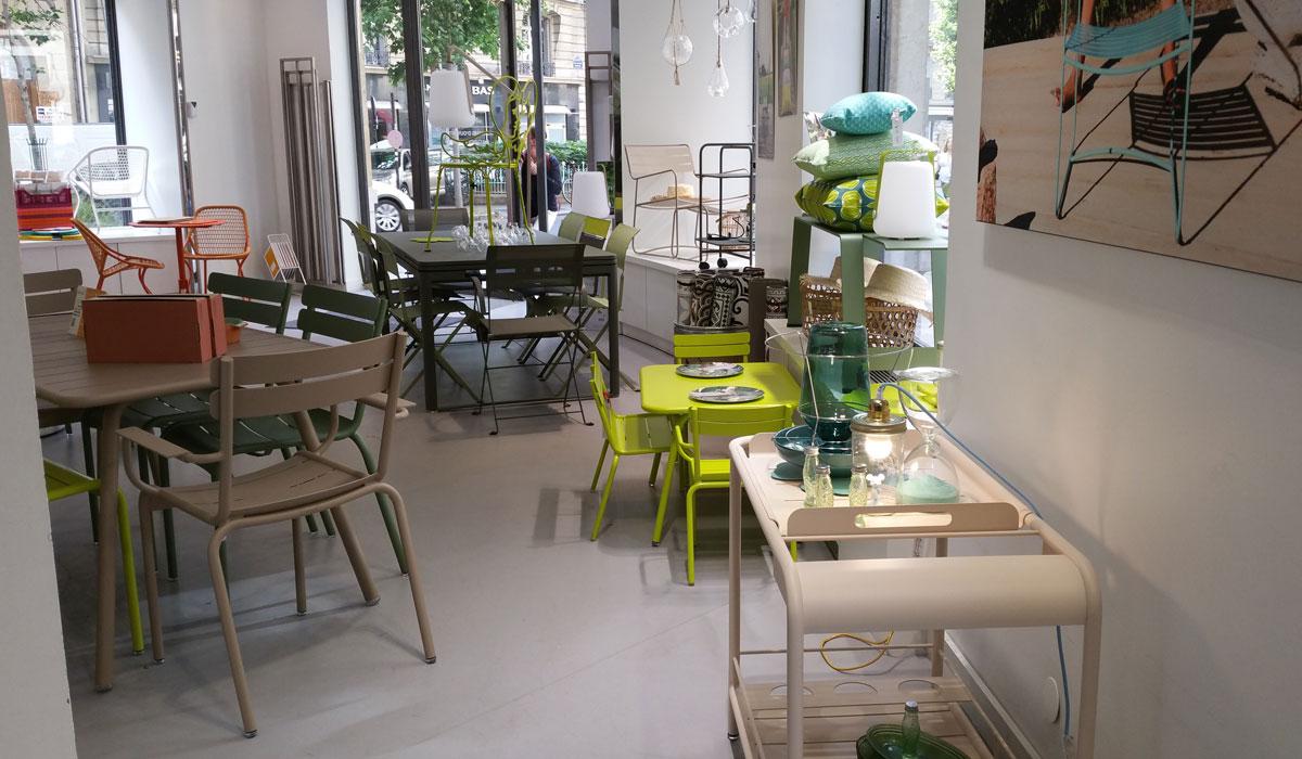 Mobilier de jardin et terrasse à Raspail | Fermob Paris